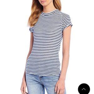 free people striped short sleeved tee